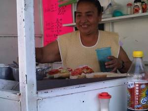 My favorite stand for gorditas, lonches, quesadillas