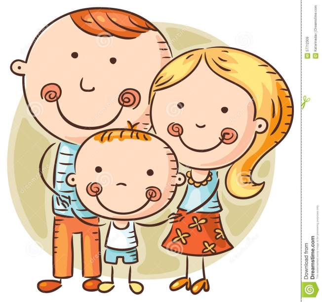 happy-cartoon-family-one-child-doodle-drawing-57712309