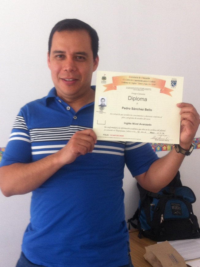 Pedro with Diploma